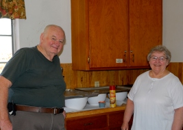 The Dinsmore's - hosts of the pancake feast