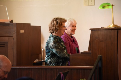 Phyllis and (playing duet)